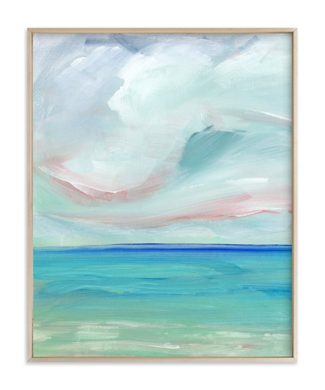 """""""Sea Escape"""" - Art Print by Lindsay Megahed in beautiful frame options and a variety of sizes."""