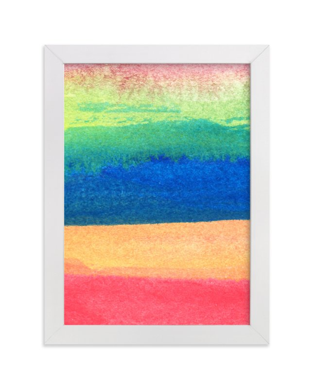 """""""watercolor abstract painting stripes1"""" - Art Print by aticnomar in beautiful frame options and a variety of sizes."""