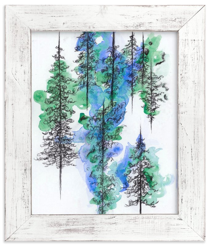"""Charcoal Trees 2"" - Art Print by Emily Magone in beautiful frame options and a variety of sizes."