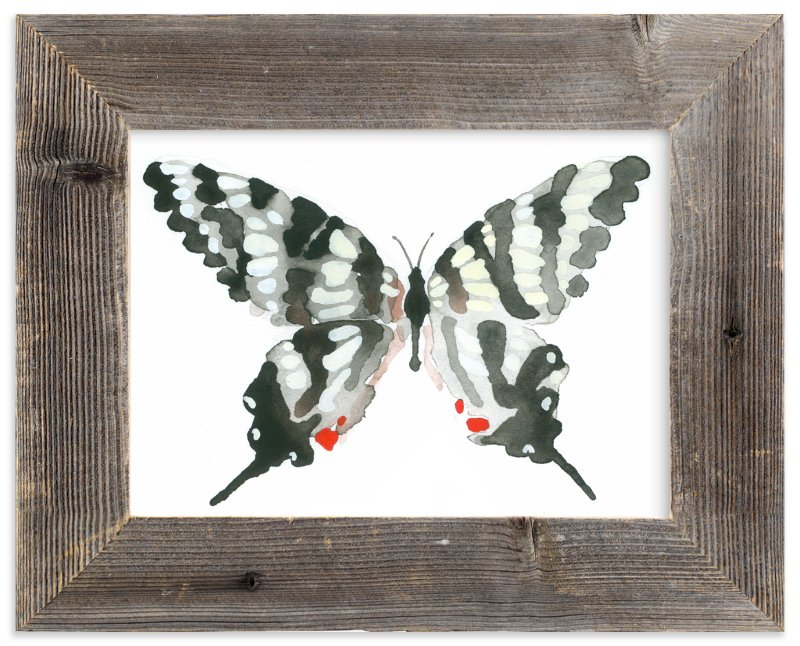 """""""Zebra Swallowtail"""" - Art Print by Betty Hatchett in beautiful frame options and a variety of sizes."""