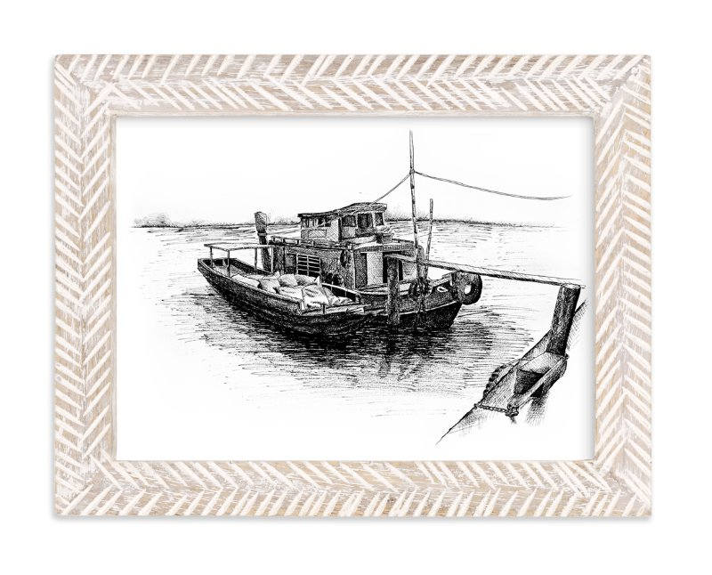 """""""Another Sketchy Boat """" - Art Print by Tung Tram in beautiful frame options and a variety of sizes."""