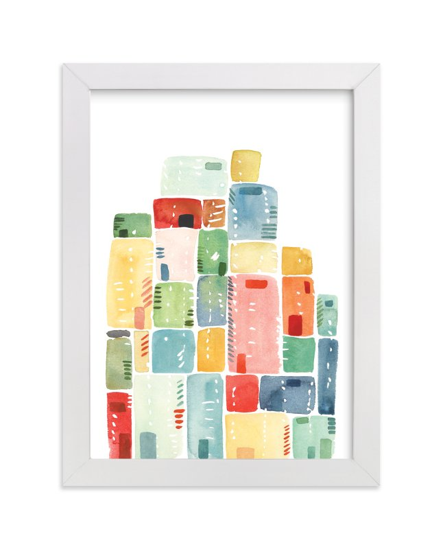 """Rectangles Stacked"" - Art Print by Yao Cheng Design in beautiful frame options and a variety of sizes."