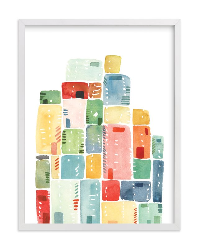 """""""Rectangles Stacked"""" - Art Print by Yao Cheng Design in beautiful frame options and a variety of sizes."""