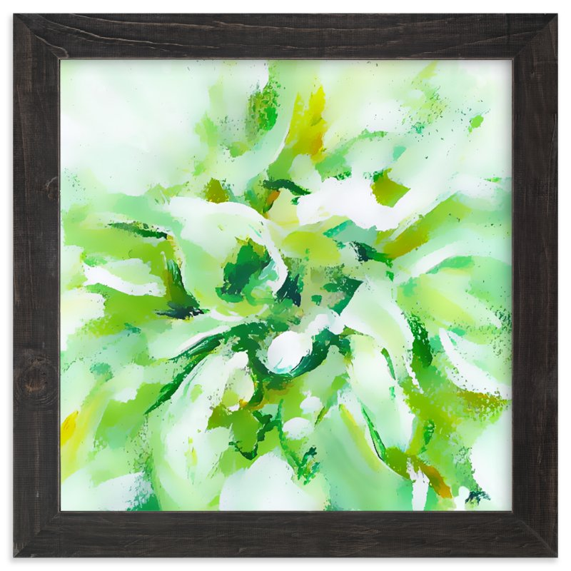 """White Dahlia"" - Art Print by Jenny Partrite in beautiful frame options and a variety of sizes."