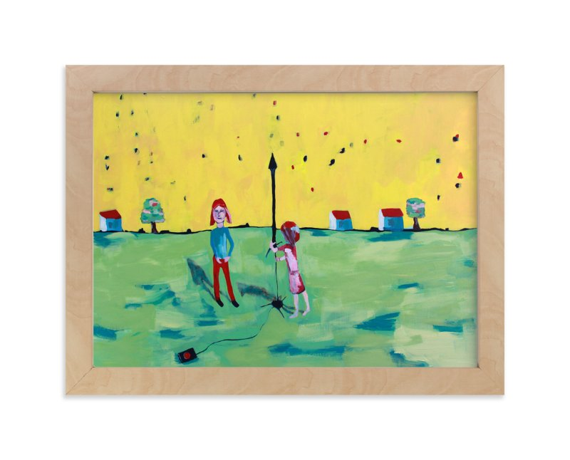 """Rocket Girls"" - Art Print by Tracie Hise in beautiful frame options and a variety of sizes."