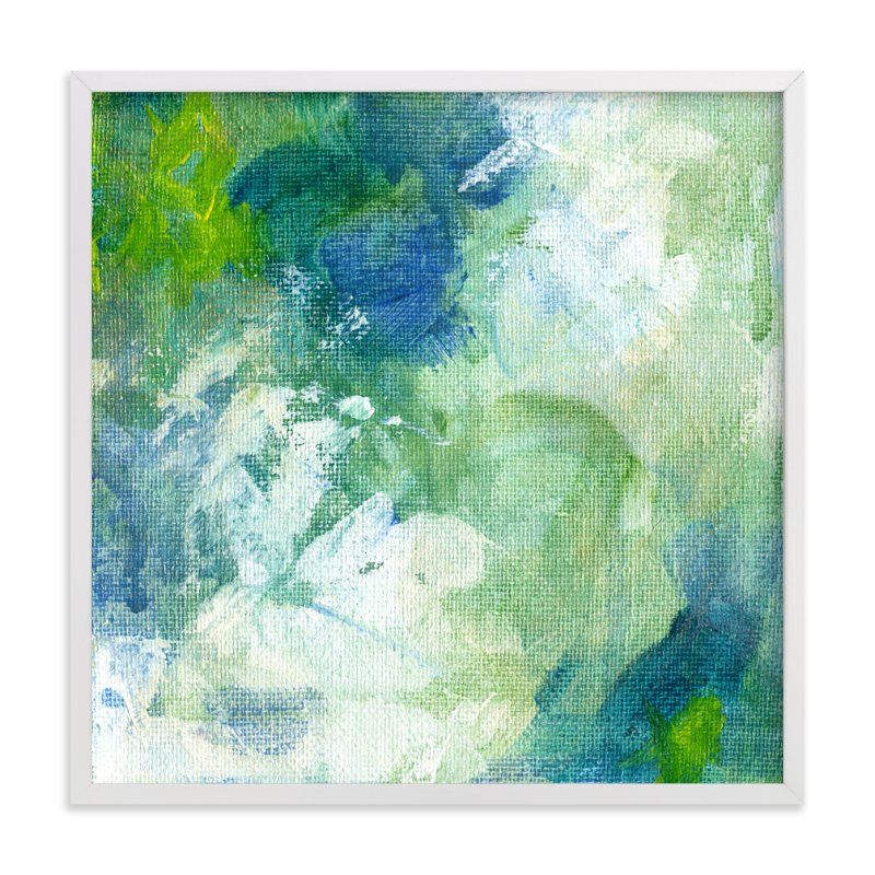 """""""Aquamarine No. 2"""" - Art Print by 2birdstone in beautiful frame options and a variety of sizes."""