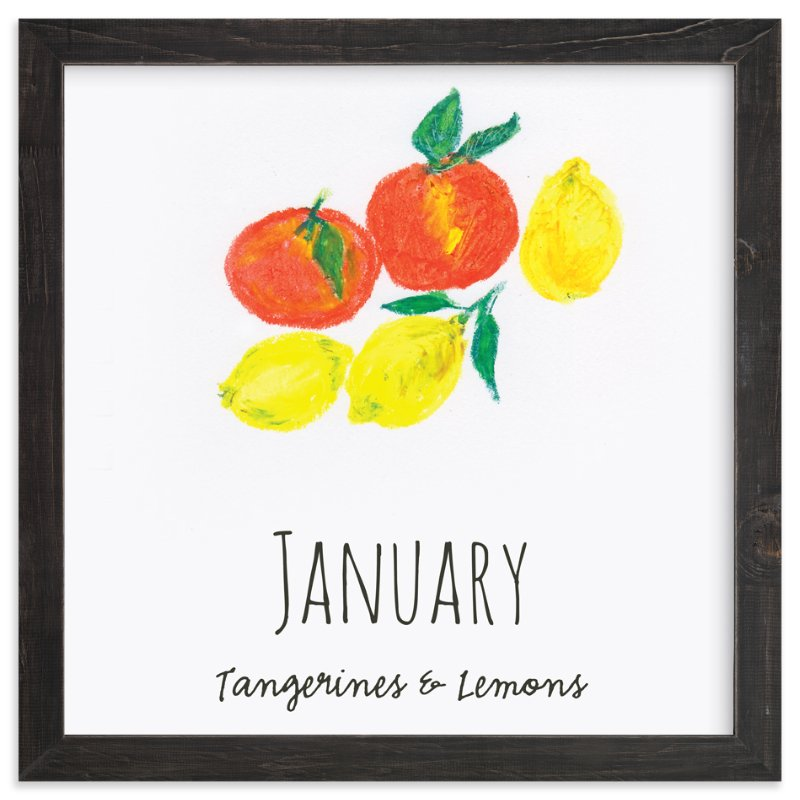 """""""January fruits"""" - Art Print by Kanika Mathur in beautiful frame options and a variety of sizes."""