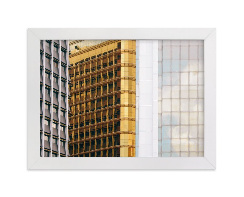 """""""Urban Palette - Black, Gold And Silver"""" - Art Print by lulu and isabelle in beautiful frame options and a variety of sizes."""