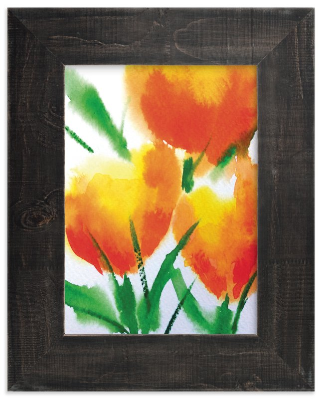"""Zesty Orange Tulips"" - Art Print by Roopali in beautiful frame options and a variety of sizes."