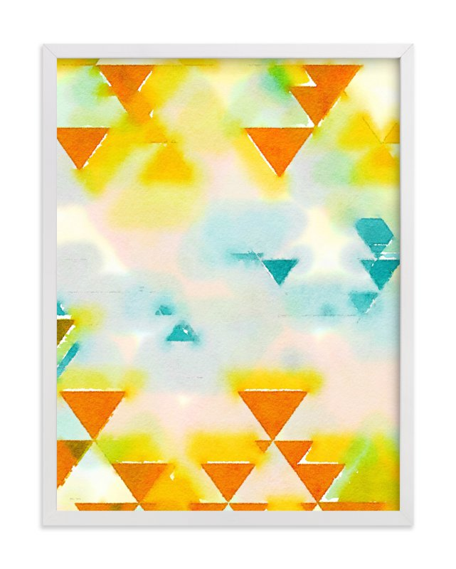"""""""Abstract Triangle Geometric"""" - Art Print by Amy Lighthall in beautiful frame options and a variety of sizes."""