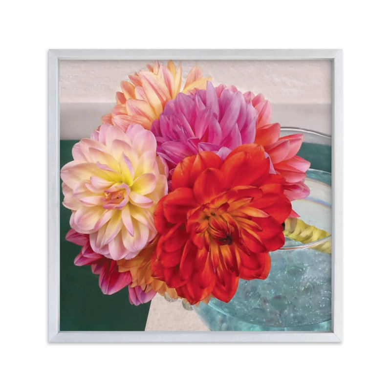 """Bridal Bouquet Dahlias"" - Art Print by Mazing Designs in beautiful frame options and a variety of sizes."