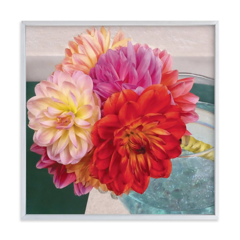 """""""Bridal Bouquet Dahlias"""" - Art Print by Mazing Designs in beautiful frame options and a variety of sizes."""