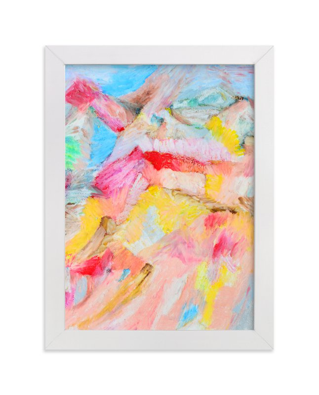 """Rainbow Beach"" - Art Print by Pooja Pittie in beautiful frame options and a variety of sizes."