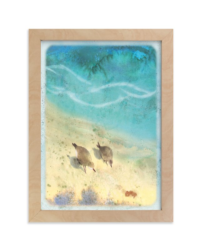 """""""Shore Birds"""" - Art Print by Tracy Ann in beautiful frame options and a variety of sizes."""