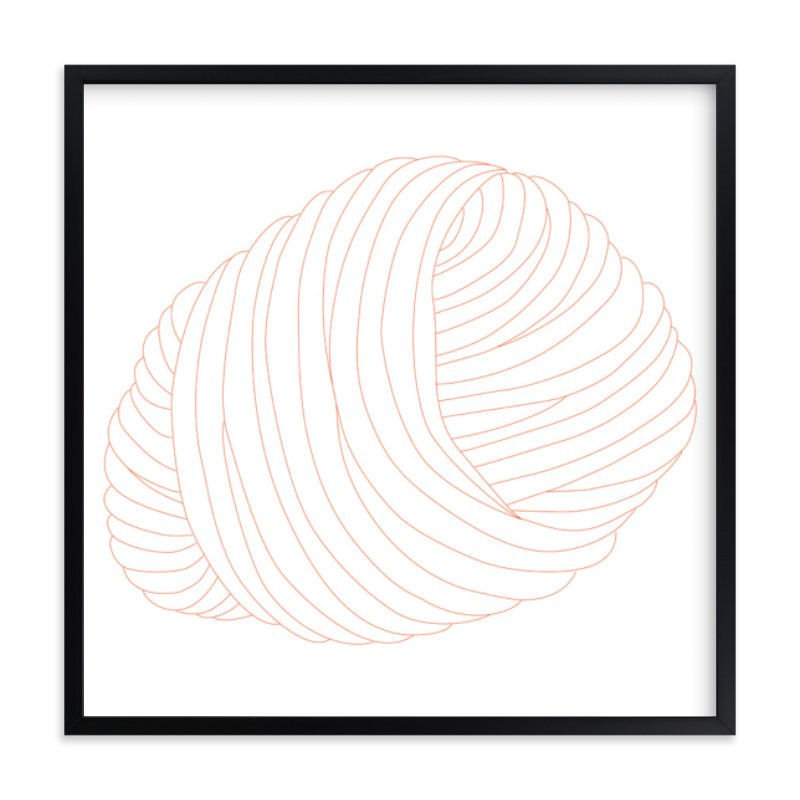 """Ball of Yarn"" - Art Print by Gaucho Works in beautiful frame options and a variety of sizes."