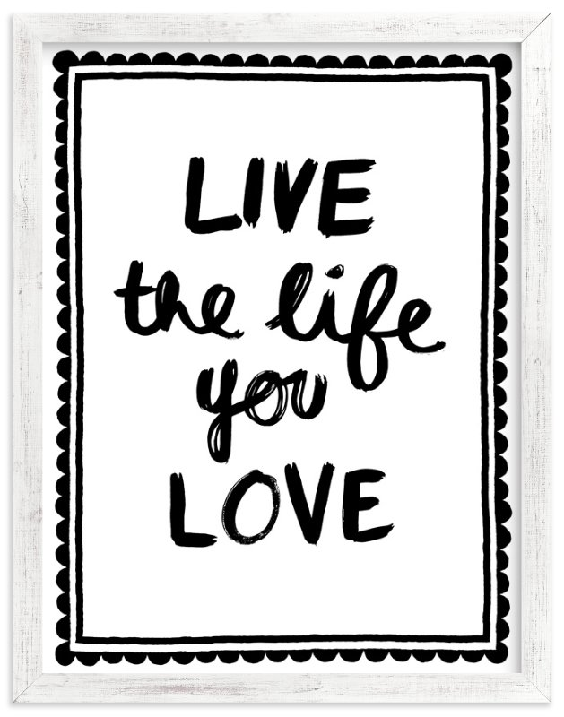 """""""Live Love"""" - Art Print by Kelly Nasuta in beautiful frame options and a variety of sizes."""