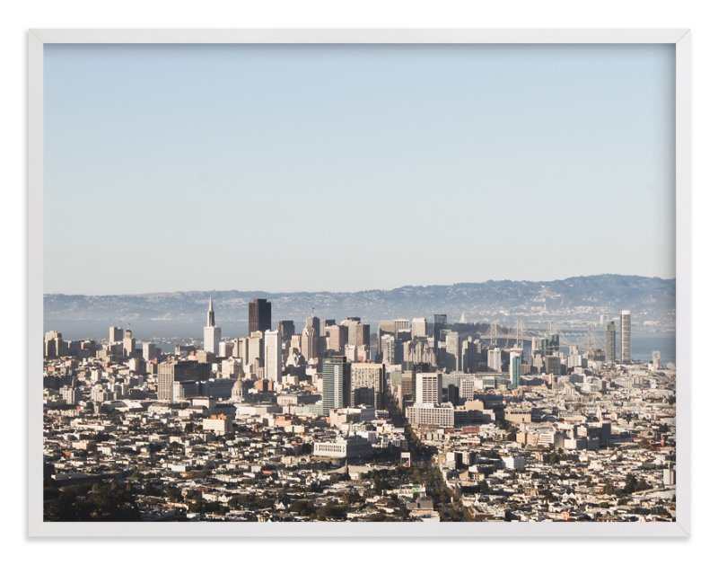 """Downtown San Francisco"" - Art Print by Annie Montgomery in beautiful frame options and a variety of sizes."