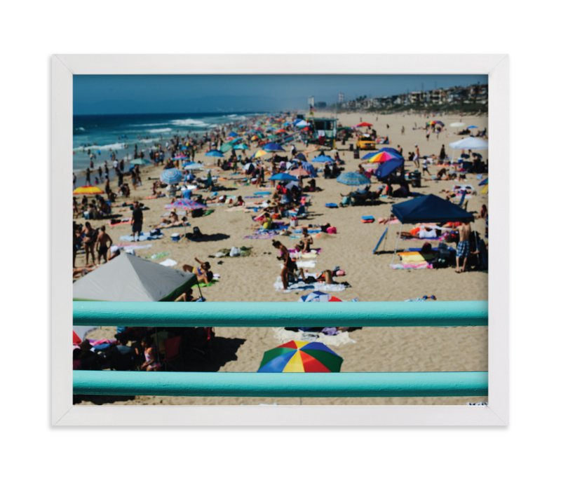 """""""Umbrellas III"""" - Art Print by Jennifer Little in beautiful frame options and a variety of sizes."""