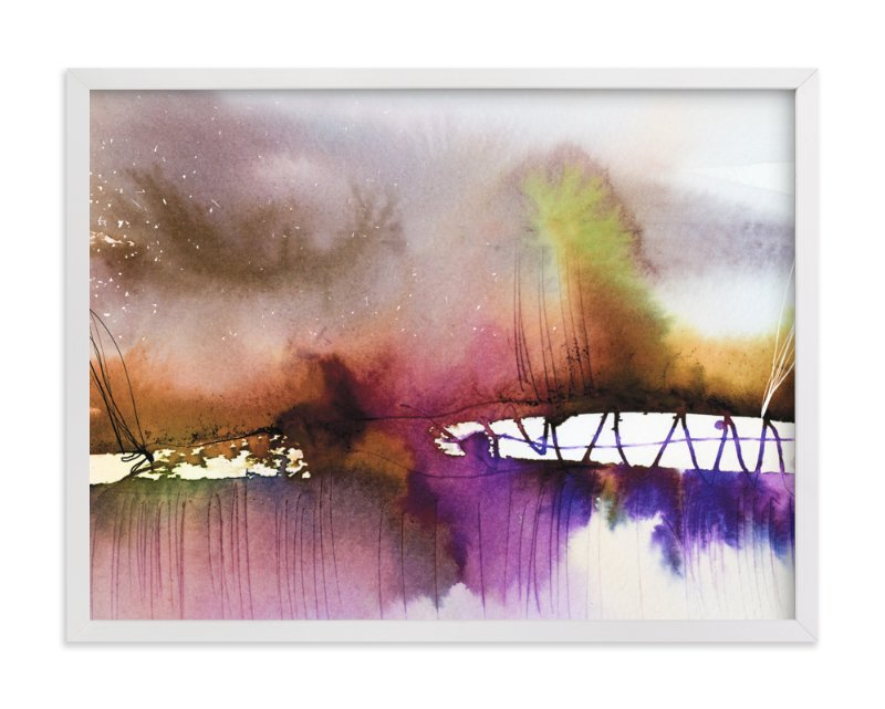 """Landsplashes Series : Bridge"" - Art Print by Marta Spendowska in beautiful frame options and a variety of sizes."