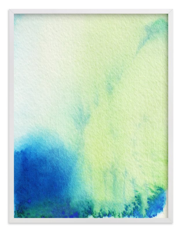 """""""Sunshine and Rain"""" - Art Print by Artsy Canvas Girl Designs in beautiful frame options and a variety of sizes."""