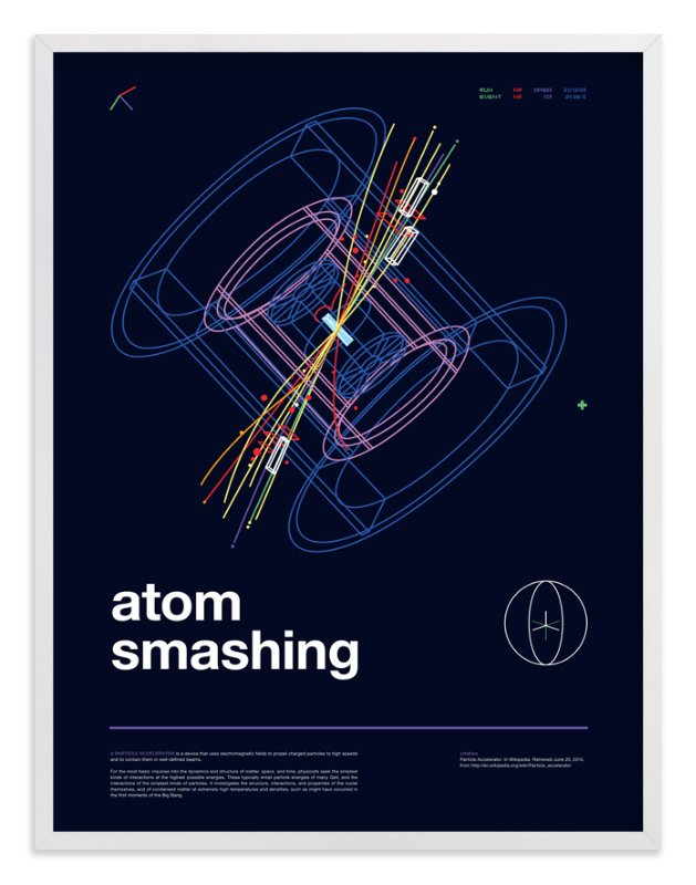 """Atom Smashing"" - Art Print by Tyler Tea in beautiful frame options and a variety of sizes."