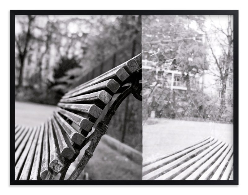 """""""The Bench"""" - Art Print by Jill Fisher in beautiful frame options and a variety of sizes."""