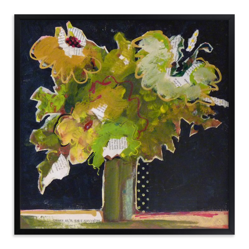 """Bouquet de choses "" - Art Print by Johanne Roy in beautiful frame options and a variety of sizes."