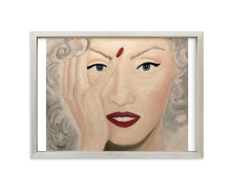 """""""Oh! No! Oil Painting"""" - Art Print by Abby Reid in beautiful frame options and a variety of sizes."""
