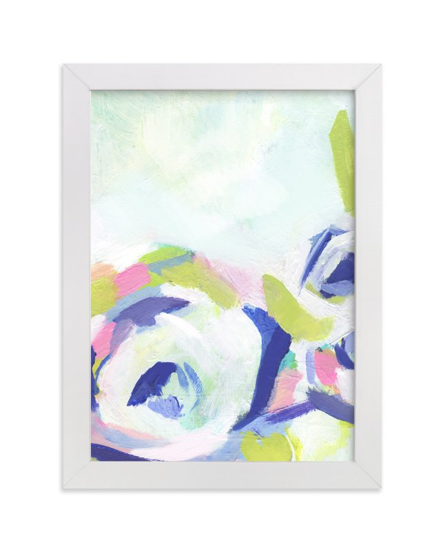 """""""Gardenia Abstracted"""" - Art Print by Makewells in beautiful frame options and a variety of sizes."""