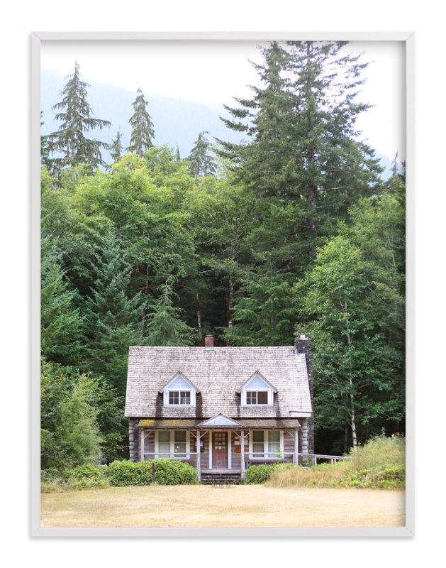 """""""Cabin at Lake Crescent"""" - Art Print by Sharon Rowan in beautiful frame options and a variety of sizes."""