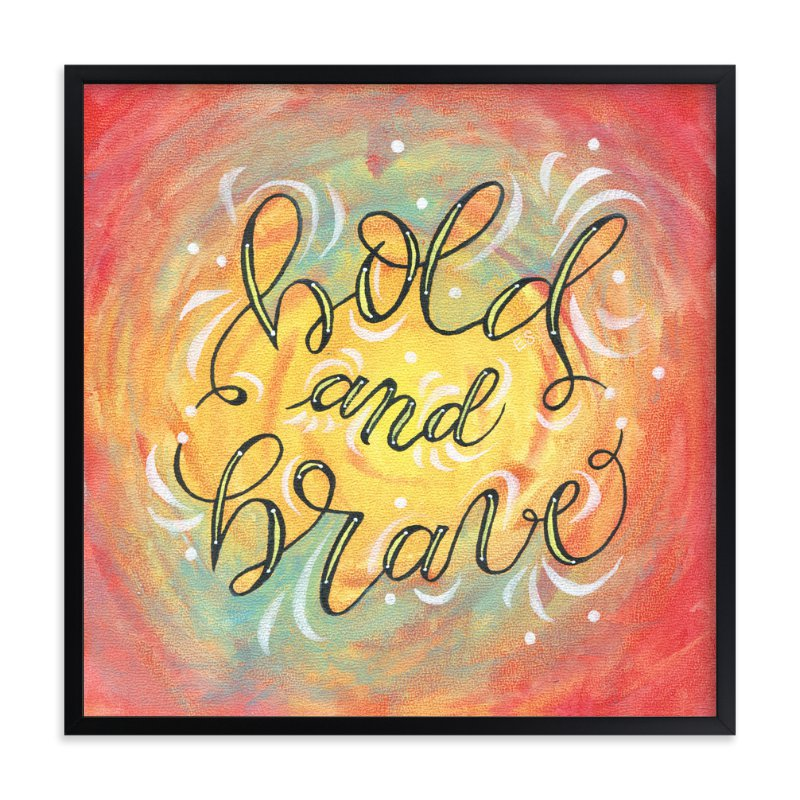 Bold and Brave Lettering Wall Art Prints by Elaine Stephenson | Minted