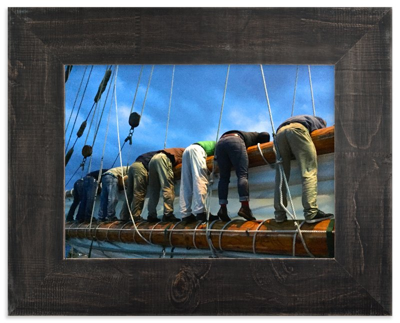 """""""Sailing Guys"""" - Art Print by Jan Kessel in beautiful frame options and a variety of sizes."""