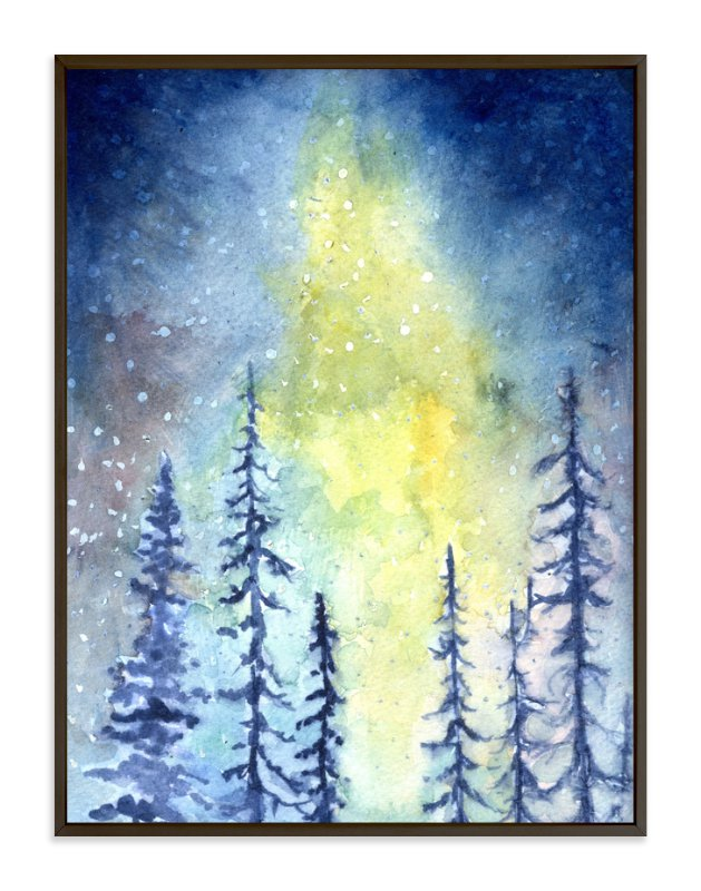 """Glorious Aurora"" - Art Print by Me Amelia in beautiful frame options and a variety of sizes."