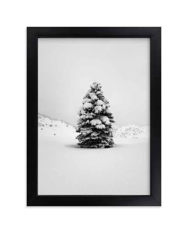 """""""Tranquil Snow III"""" - Art Print by Gabrial Reising in beautiful frame options and a variety of sizes."""