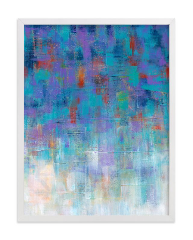"""Cool Rain"" - Art Print by Laura Bolter Design in beautiful frame options and a variety of sizes."
