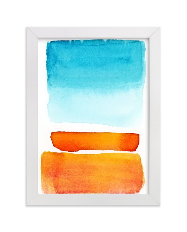 """Where the Sun Meets the City"" - Art Print by Alex Isaacs Designs in beautiful frame options and a variety of sizes."