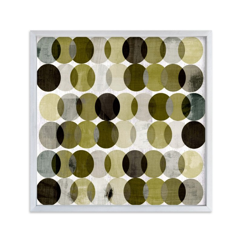 """""""Overlapping Earth Tone Circles"""" - Art Print by Amy Lighthall in beautiful frame options and a variety of sizes."""