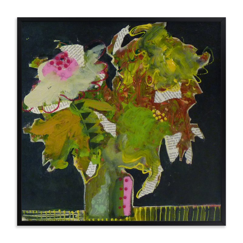 """""""Funky bouquet"""" - Art Print by Johanne Roy in beautiful frame options and a variety of sizes."""