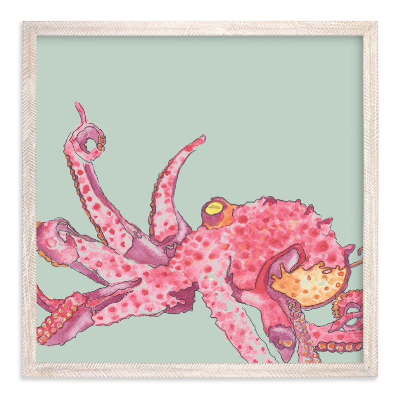 """Inkfish"" - Art Print by Taylor H Wiedemann in beautiful frame options and a variety of sizes."