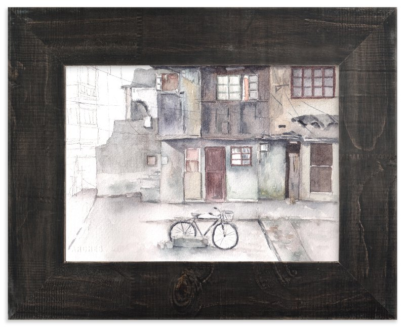 """Chinese Houses"" - Art Print by XL in beautiful frame options and a variety of sizes."