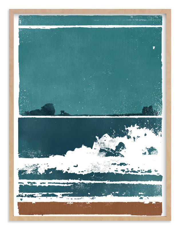 """Screen Print Beach"" - Art Print by Heather Francisco in beautiful frame options and a variety of sizes."