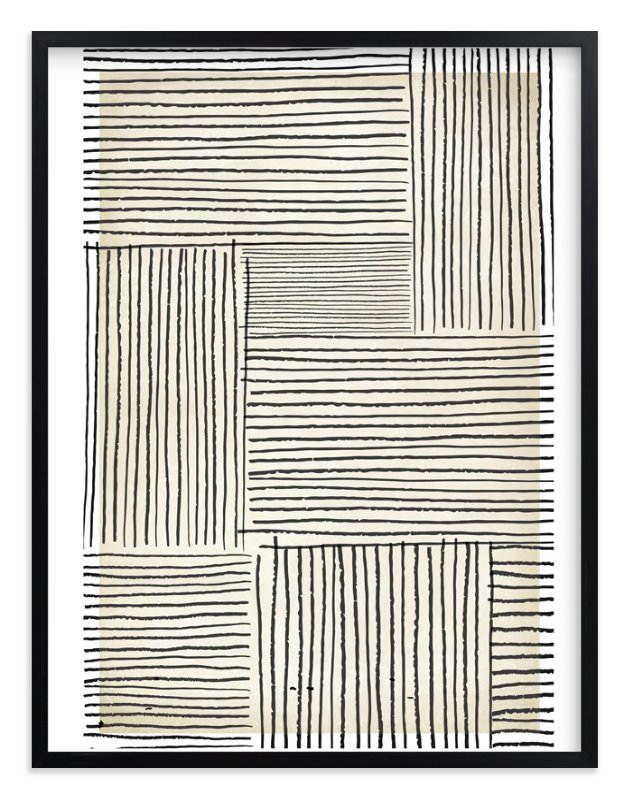 """Sketchy Lines"" - Art Print by Katie Zimpel in beautiful frame options and a variety of sizes."