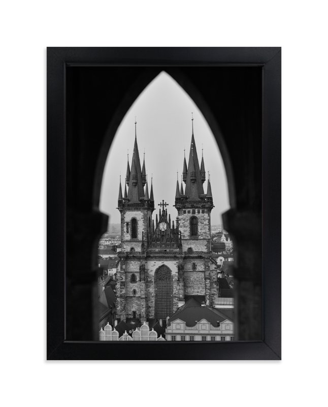 """Old Town Peek"" - Art Print by Mark Kirby in beautiful frame options and a variety of sizes."