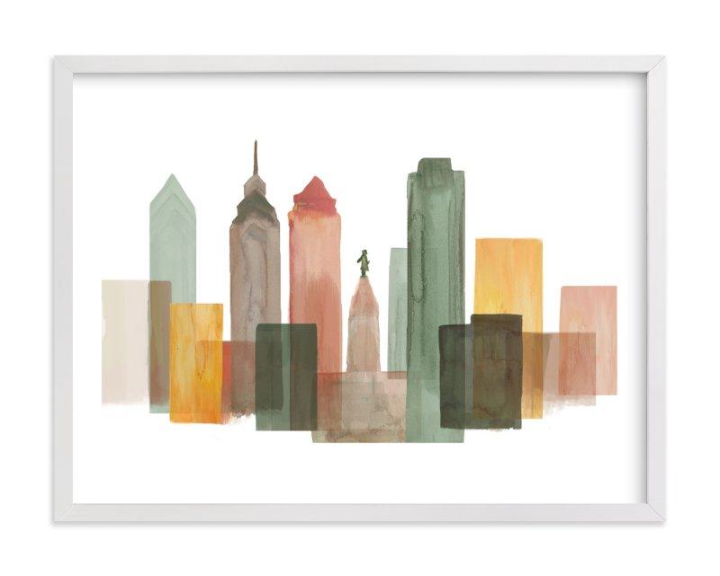 Philadelphia Skyline Wall Art Prints by Katherine Moynagh | Minted
