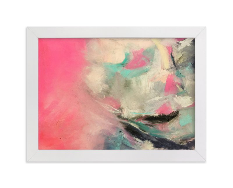 """""""Warm Is Winning Abstract Pastel Drawing"""" - Art Print by Melanie Biehle in beautiful frame options and a variety of sizes."""