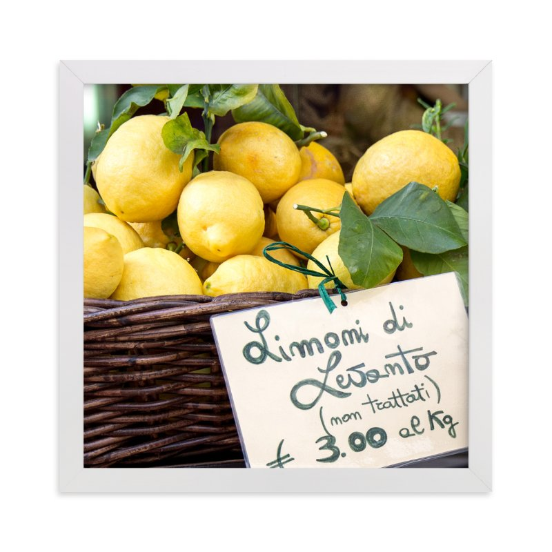 """""""Limoni di Levanto"""" - Art Print by Three Kisses Studio in beautiful frame options and a variety of sizes."""