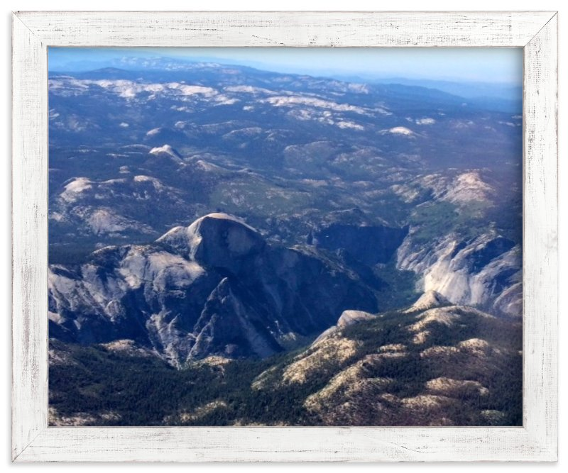"""""""Yosemite Valley from 14,000 Feet"""" - Art Print by Jeff Vilkin in beautiful frame options and a variety of sizes."""