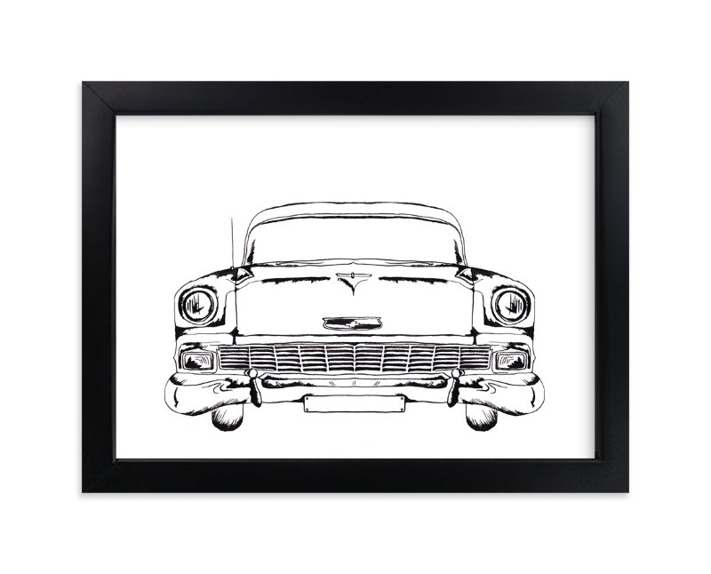 """Inked Classic"" - Art Print by Erin Niehenke in beautiful frame options and a variety of sizes."