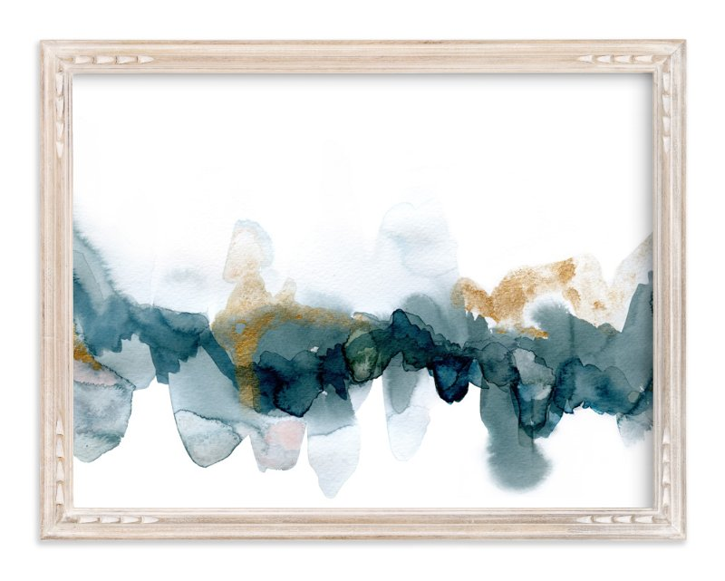 """""""Fractured Horizon 1"""" - Art Print by Melanie Severin in beautiful frame options and a variety of sizes."""