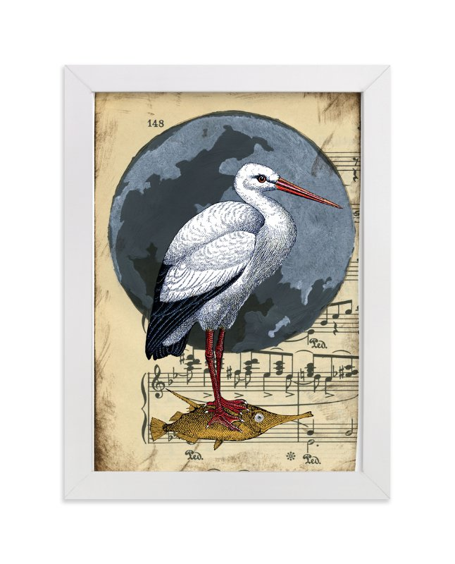 """Once in a Blue Moon"" - Art Print by raven erebus in beautiful frame options and a variety of sizes."